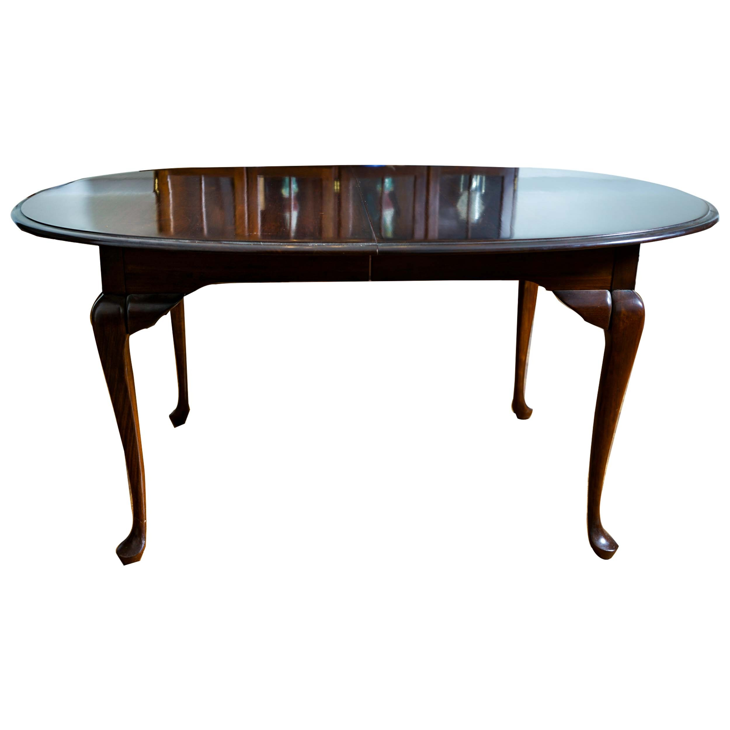 Queen Anne Style Cherry Dining Table