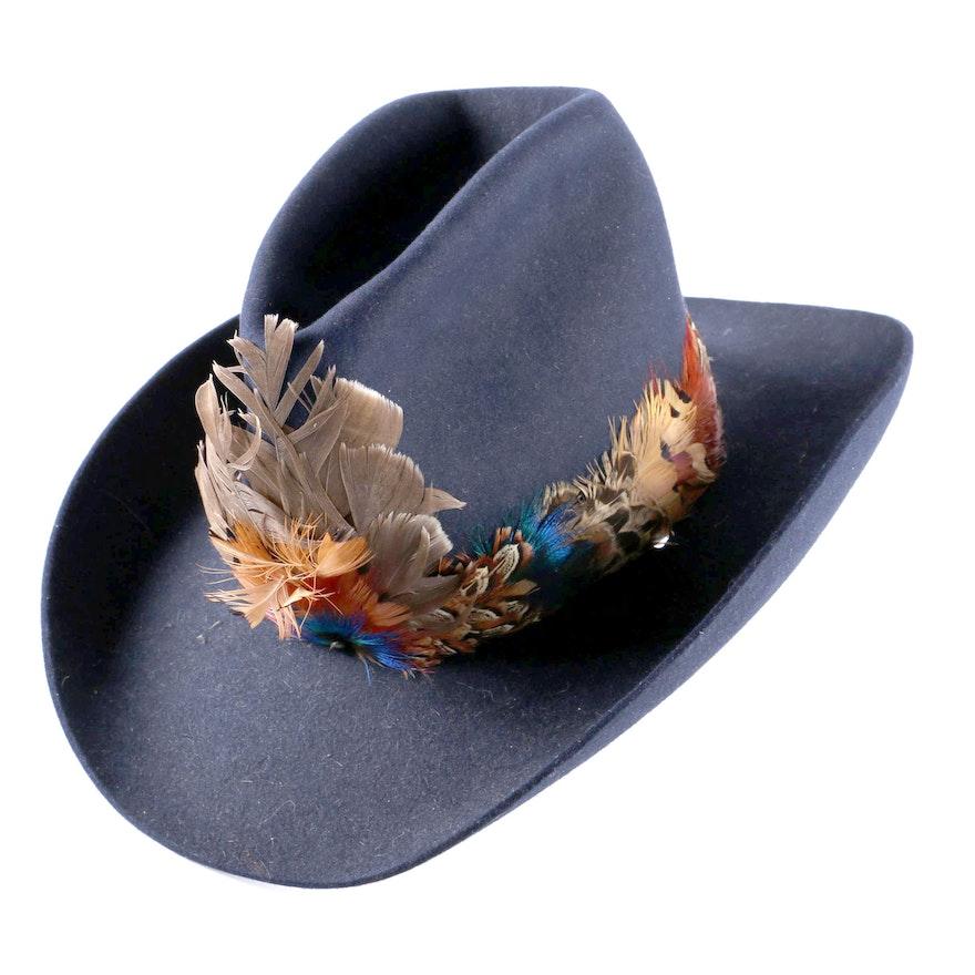 Men s Vintage Stetson Navy Blue