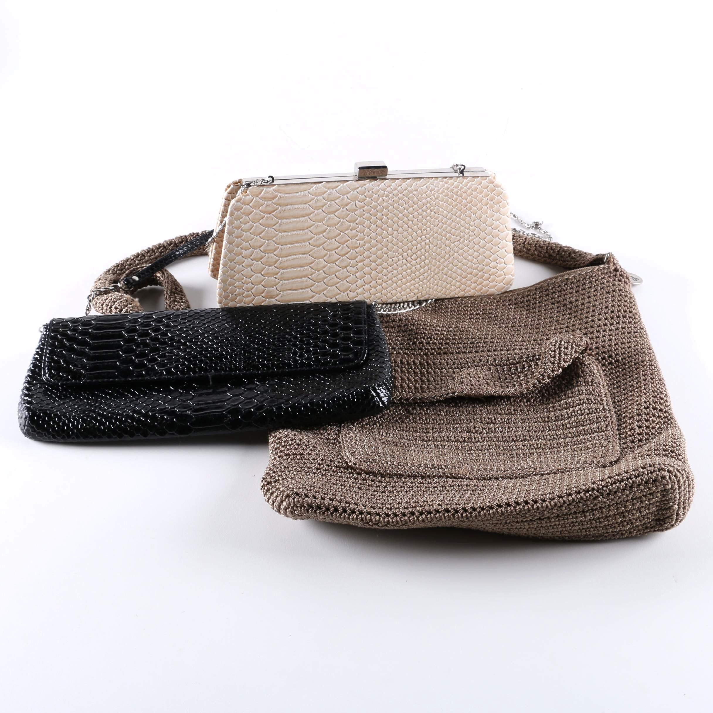 Woven and Embossed Handbags Including The Sak