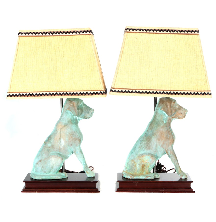 Metal dog table lamps ebth metal dog table lamps geotapseo Gallery