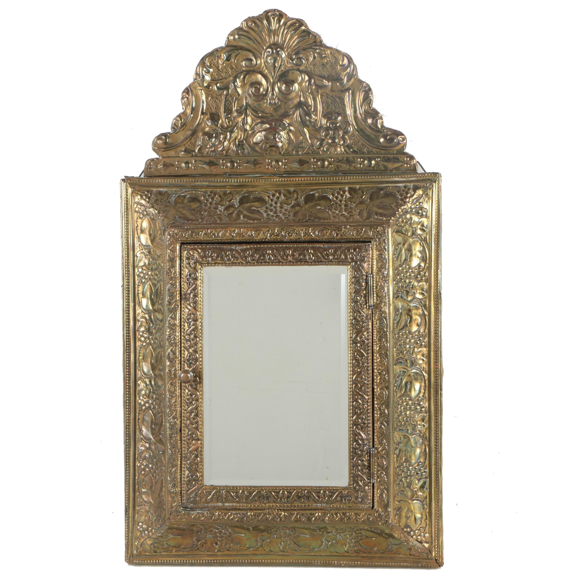 Repousse Mirrored Wall Cabinet