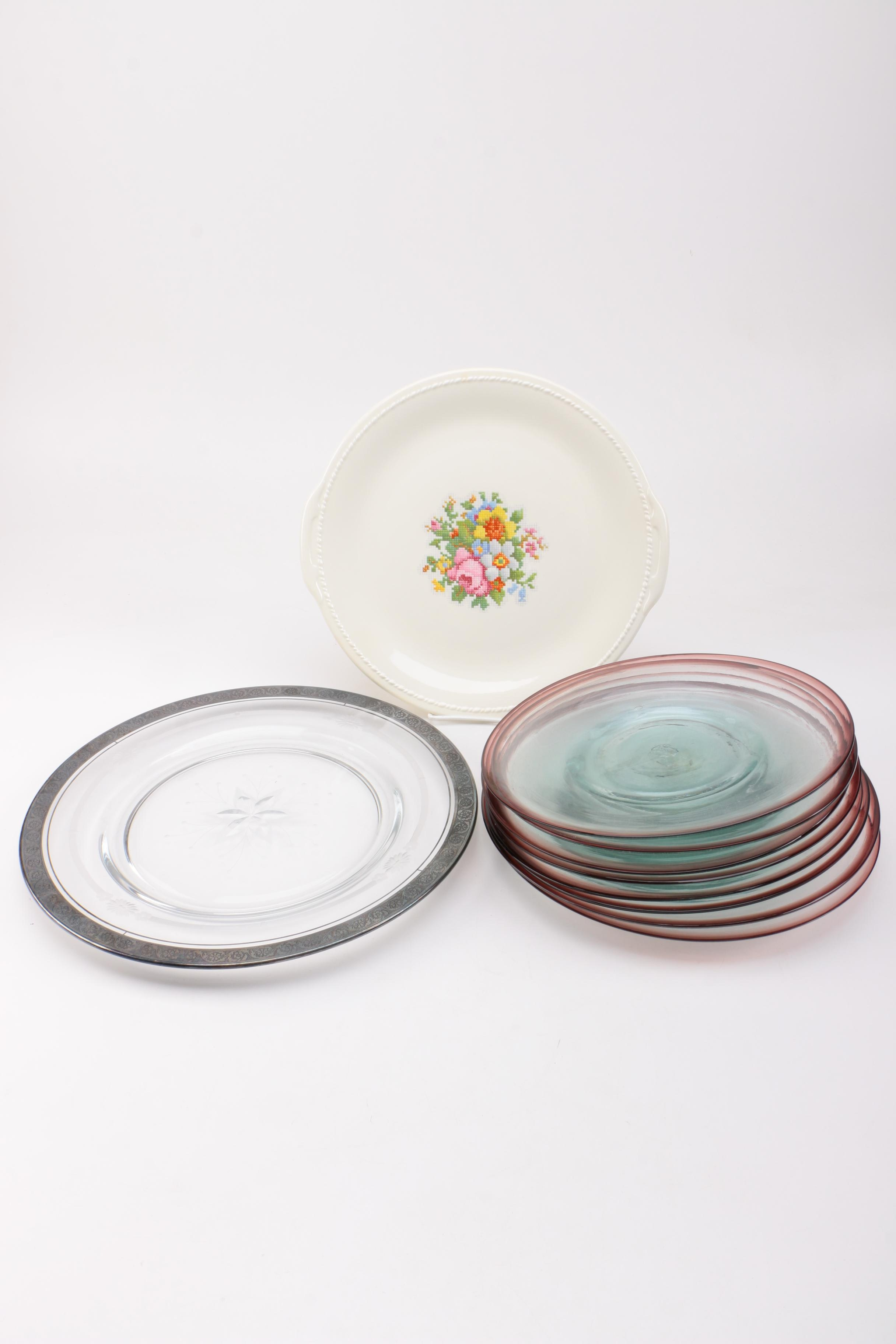 Glass and Ceramic Plates Featuring Taylor Smith & Taylor