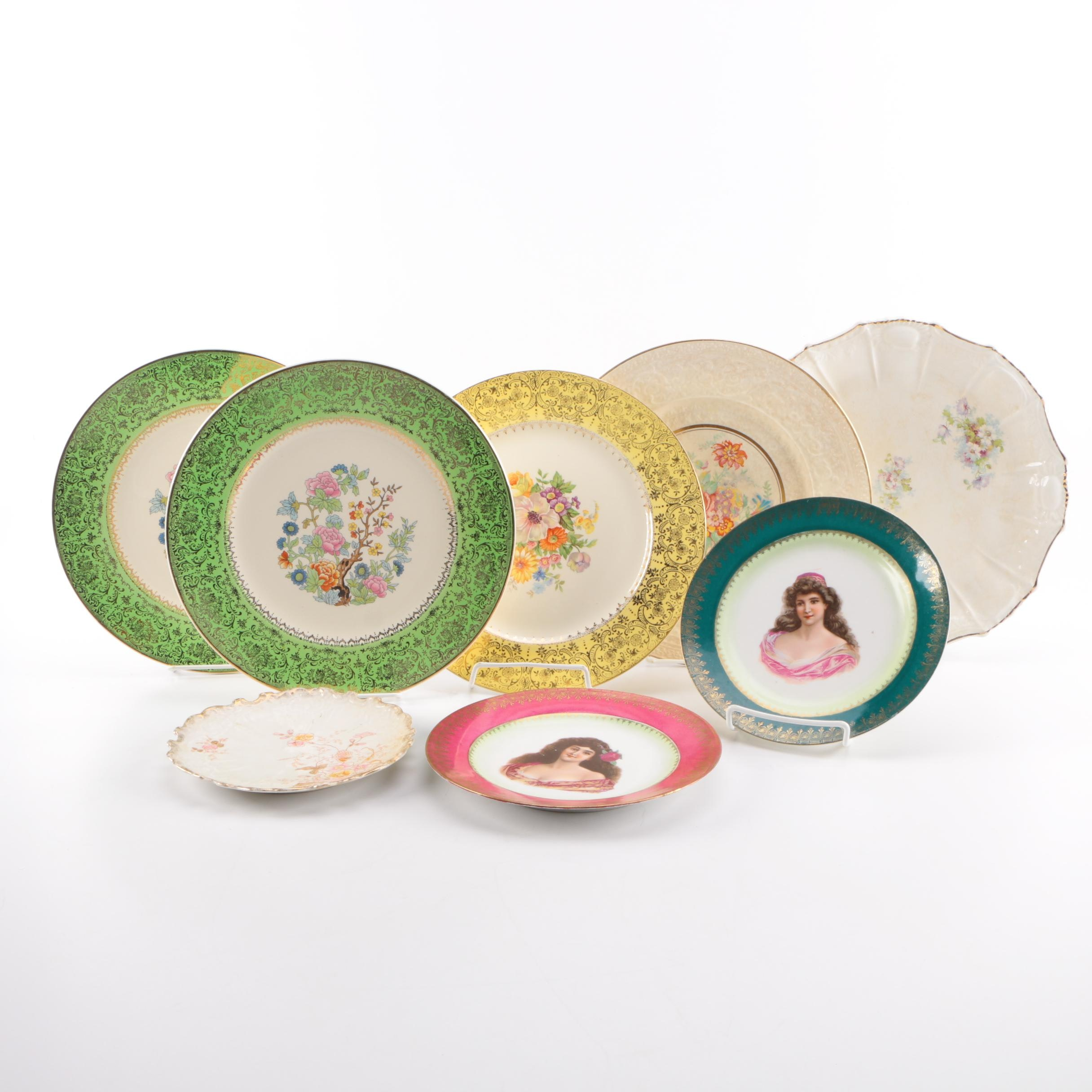 Decorative Porcelain and China Plate Collection Featuring Wedgwood and Knowles