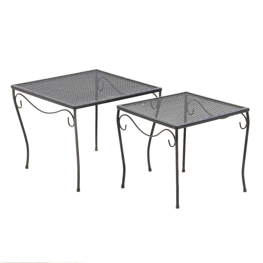 Black Metal Patio Nesting Tables ...