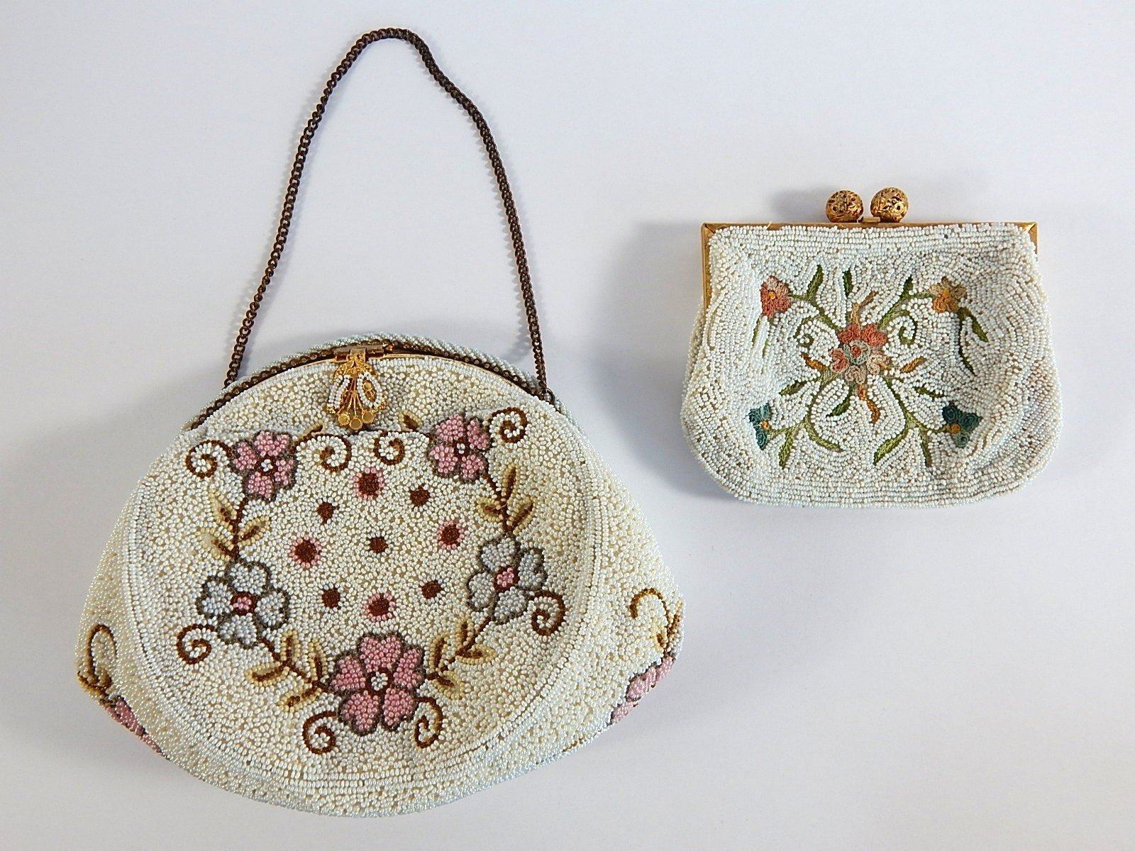 Two Vintage French Beaded Purses
