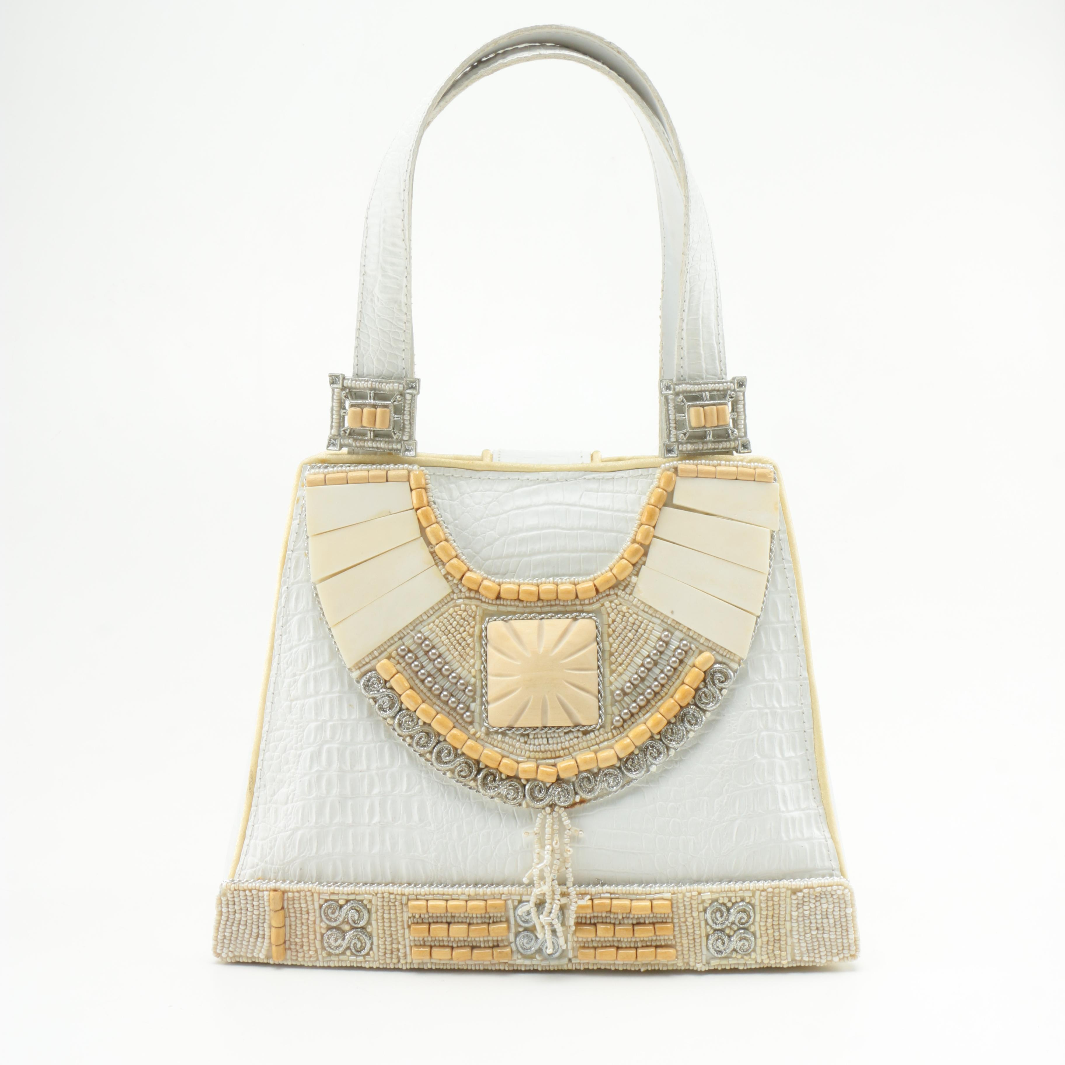 Mary Frances Beaded Leather Purse