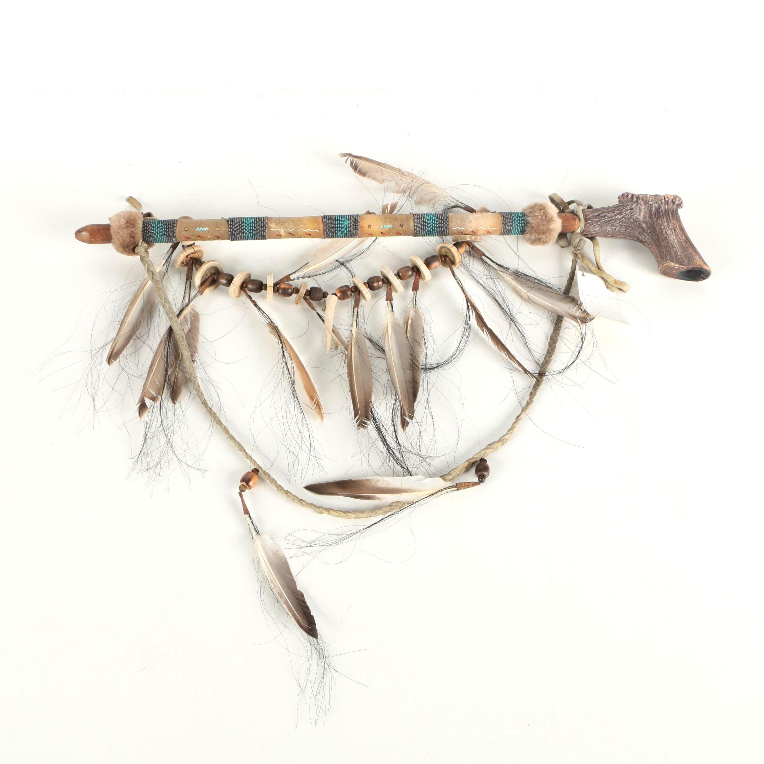 Native American Inspired Antler Pipe