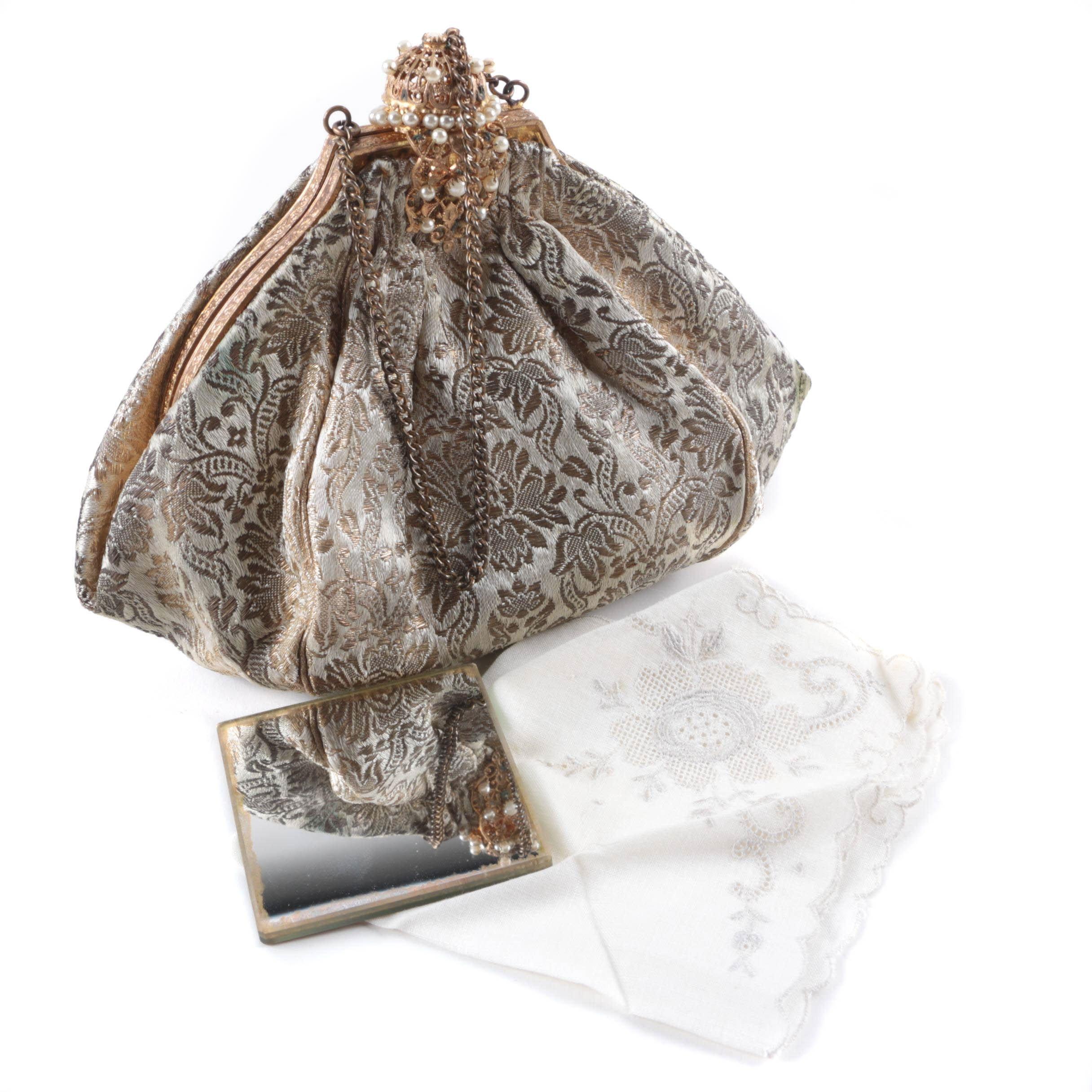 Vintage French Brocade Evening Bag