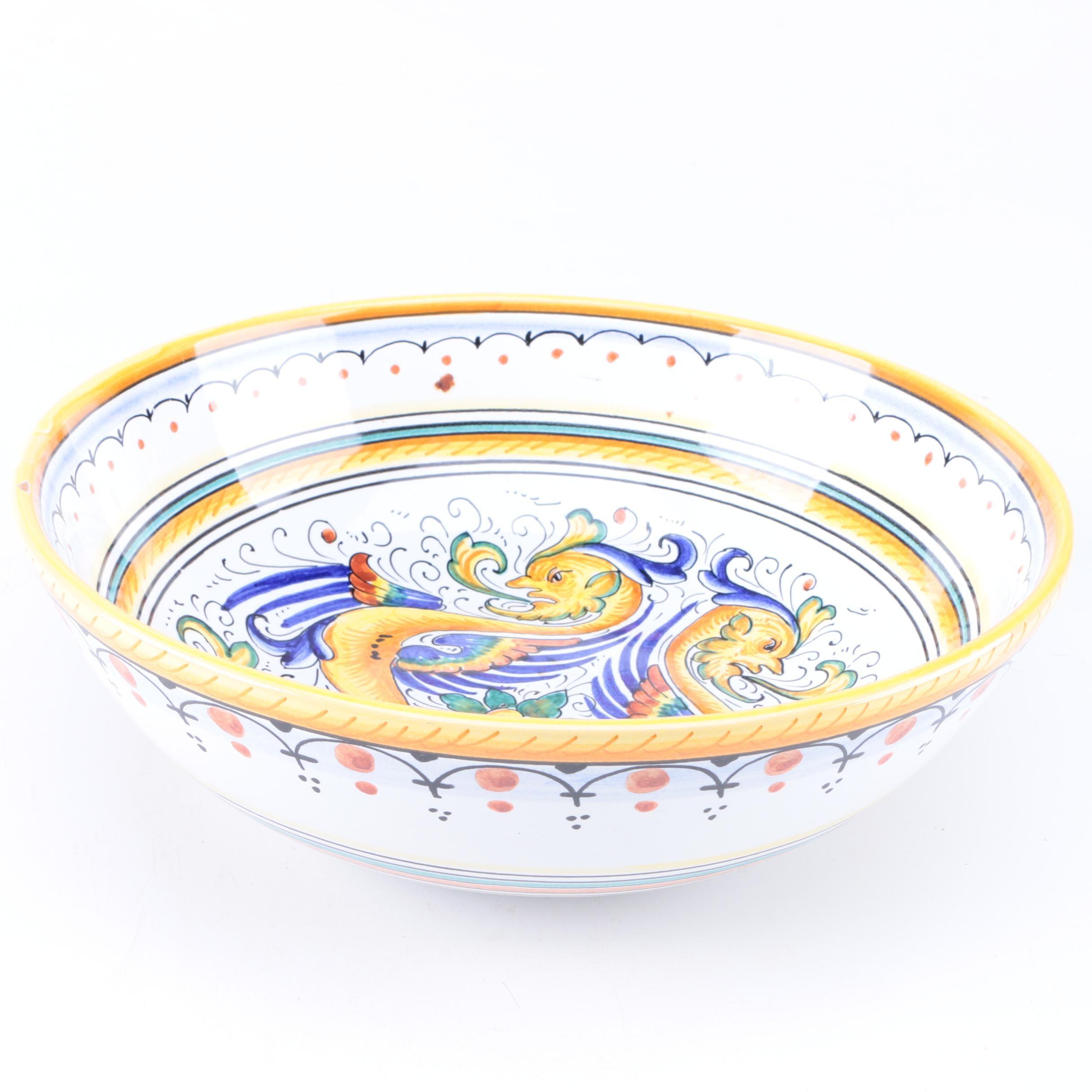 Italian Ceramiche Sberna Serving Bowl