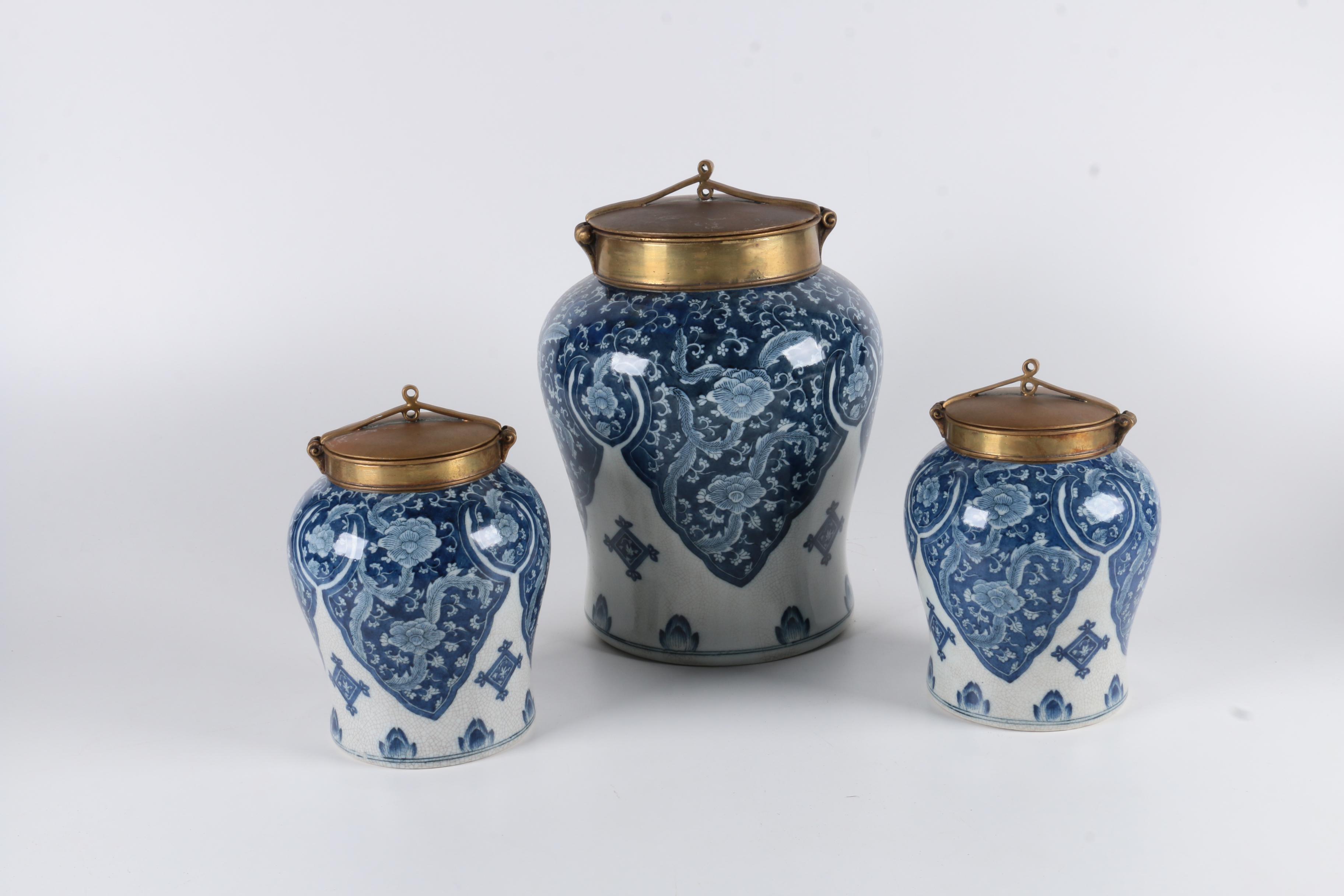 Set of Tozai Home Ceramic Ginger Jars