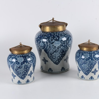 Set of Tozai Home Ceramic Ginger Jars