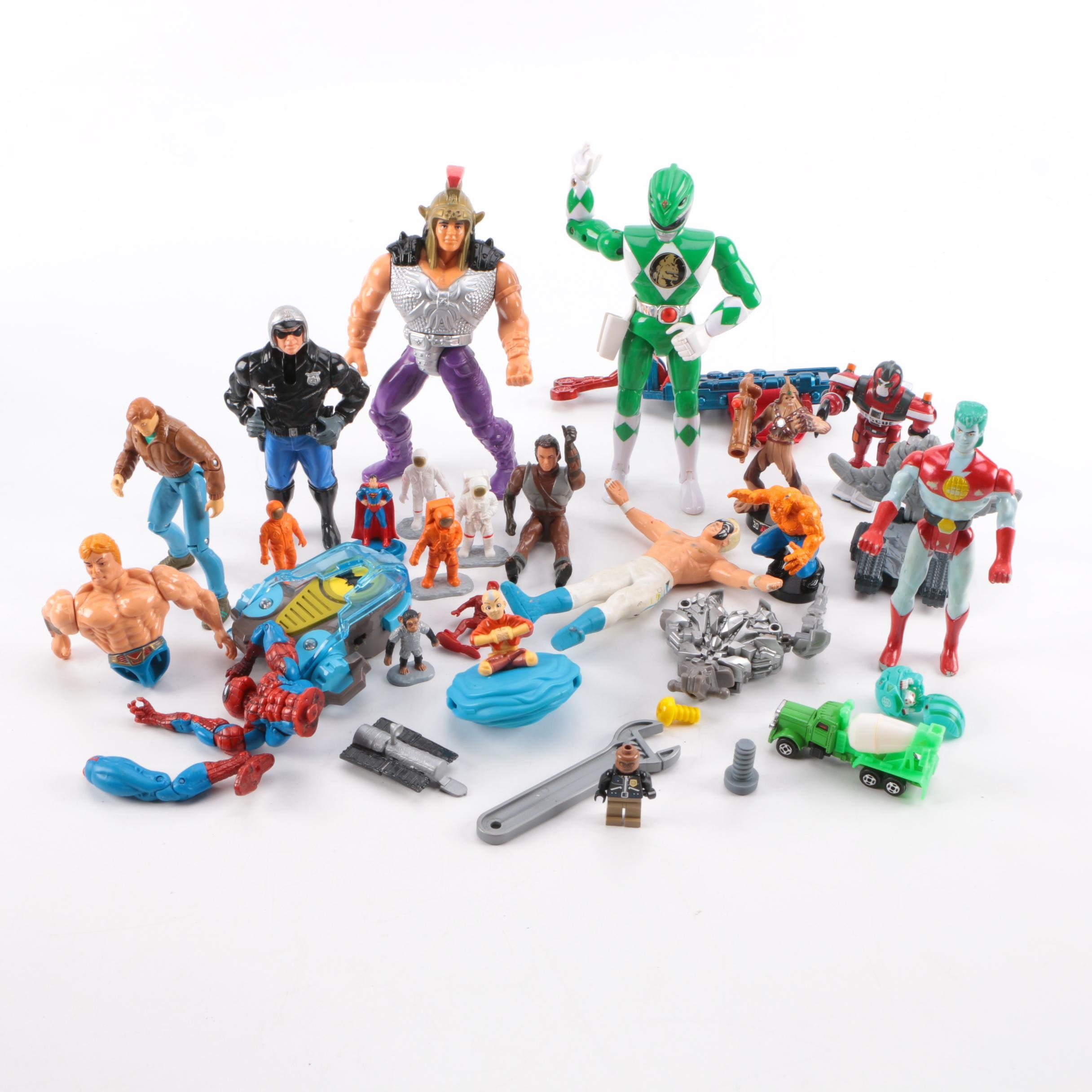Large Assortment of Action Figures and Other Toys