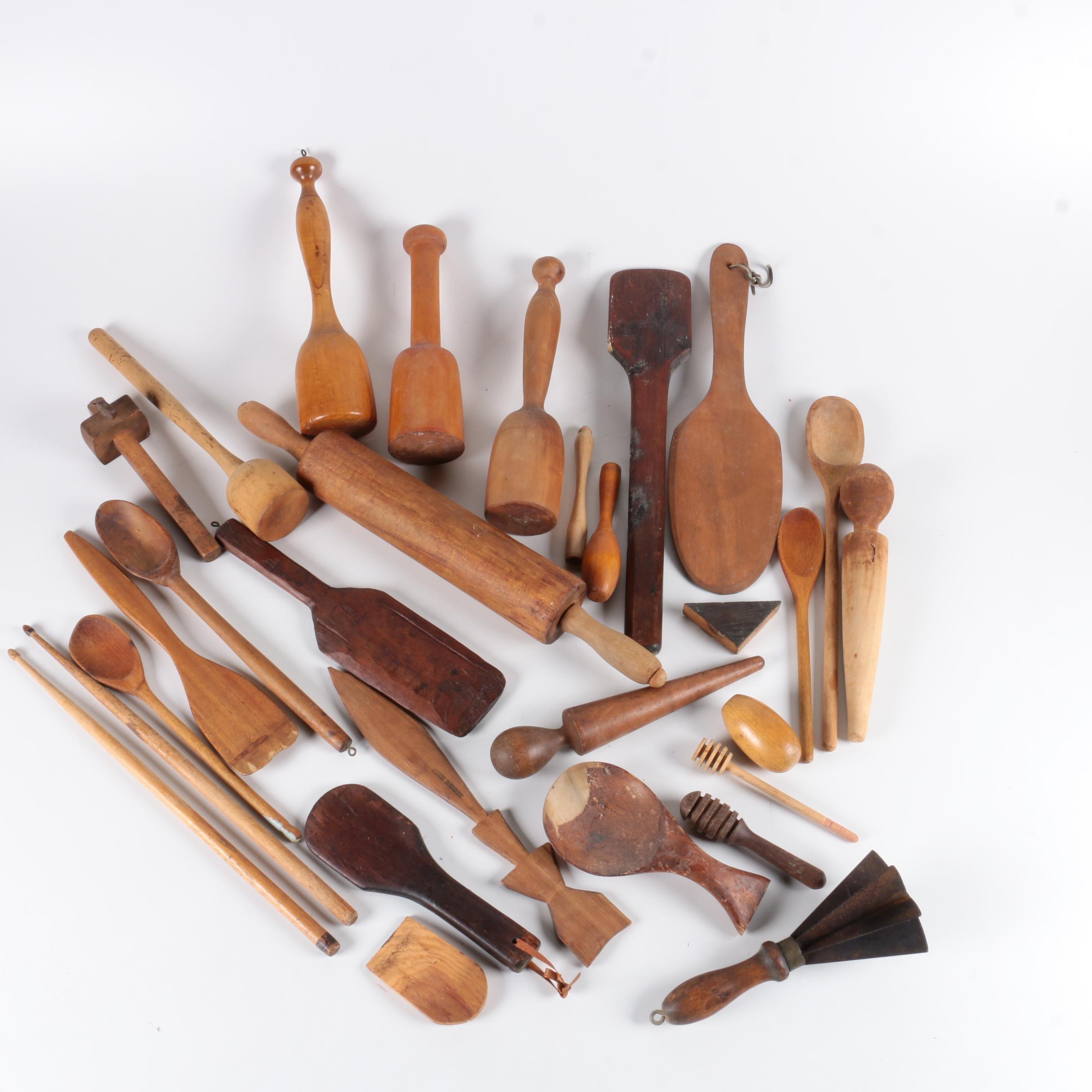 Vintage Wooden Kitchen Tools