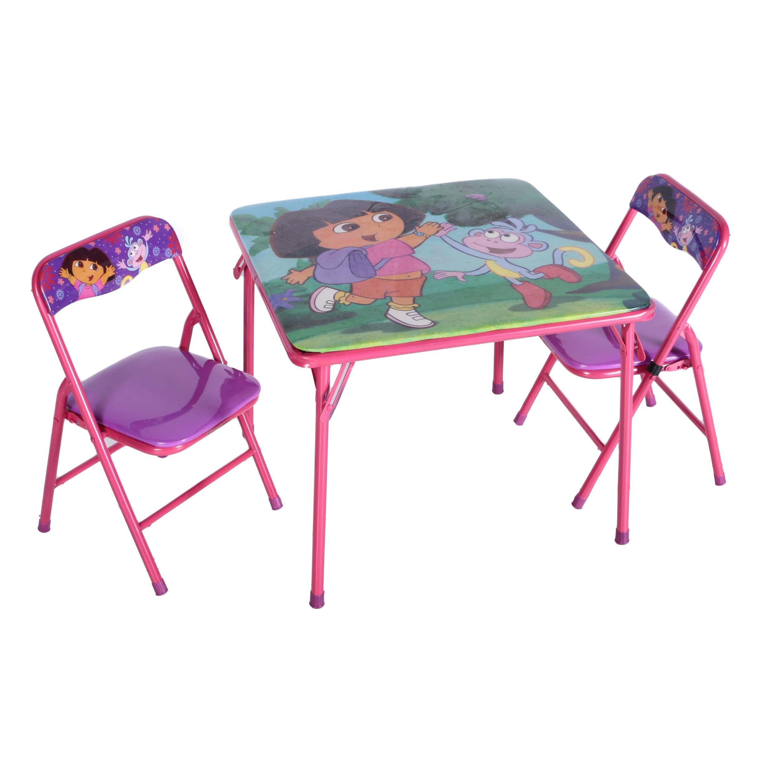 Dora the Explorer  Folding Table Set ...  sc 1 st  EBTH.com & Dora the Explorer