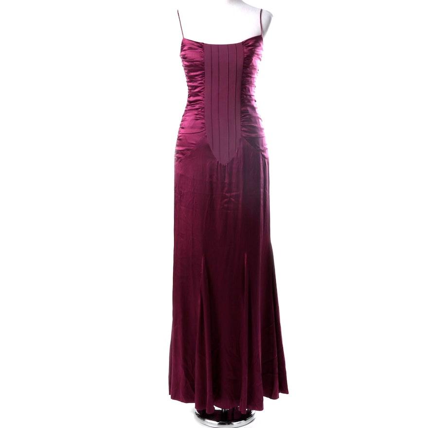 Nicole Miller Silk Evening Gown : EBTH