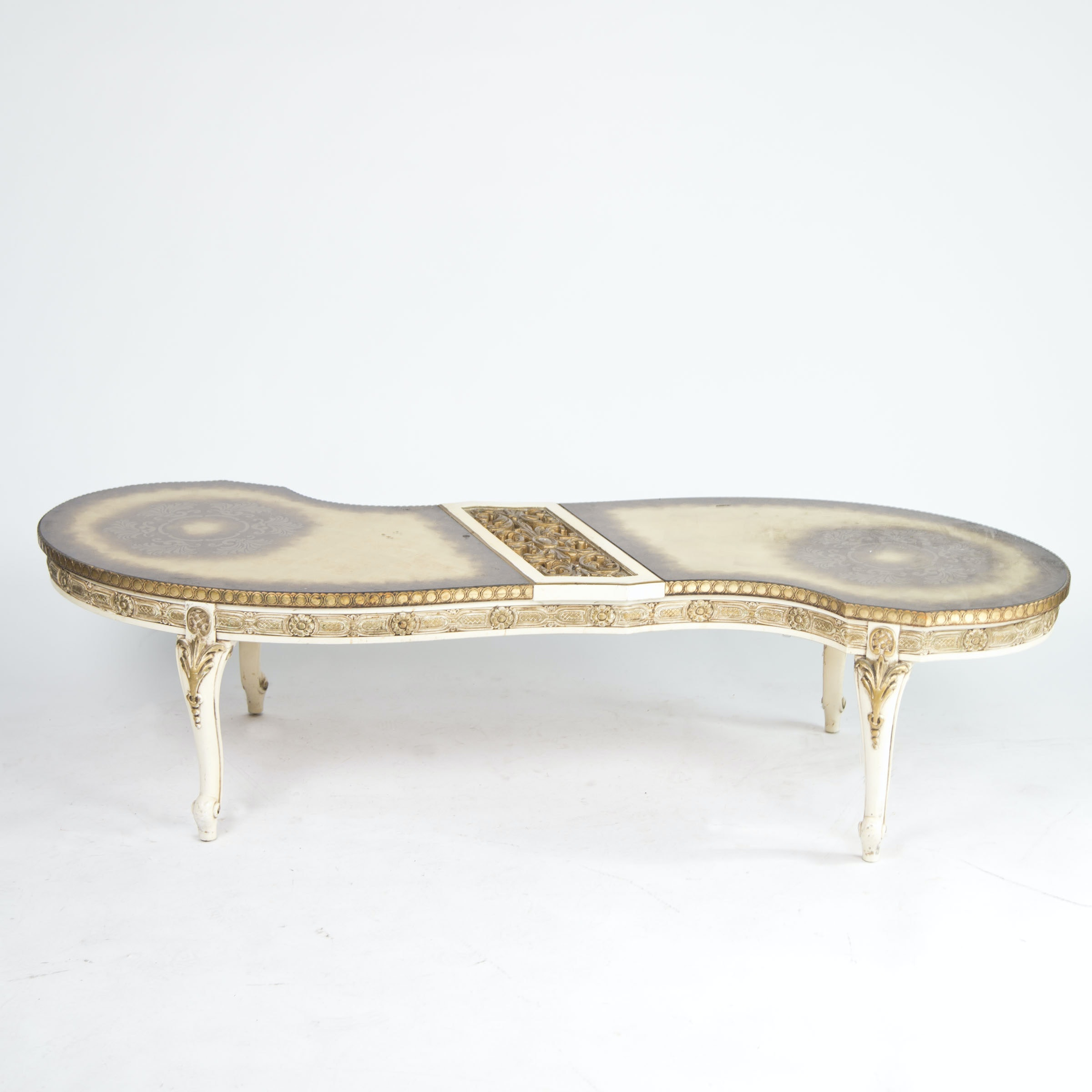 Italian Style Painted and Gilded Coffee Table