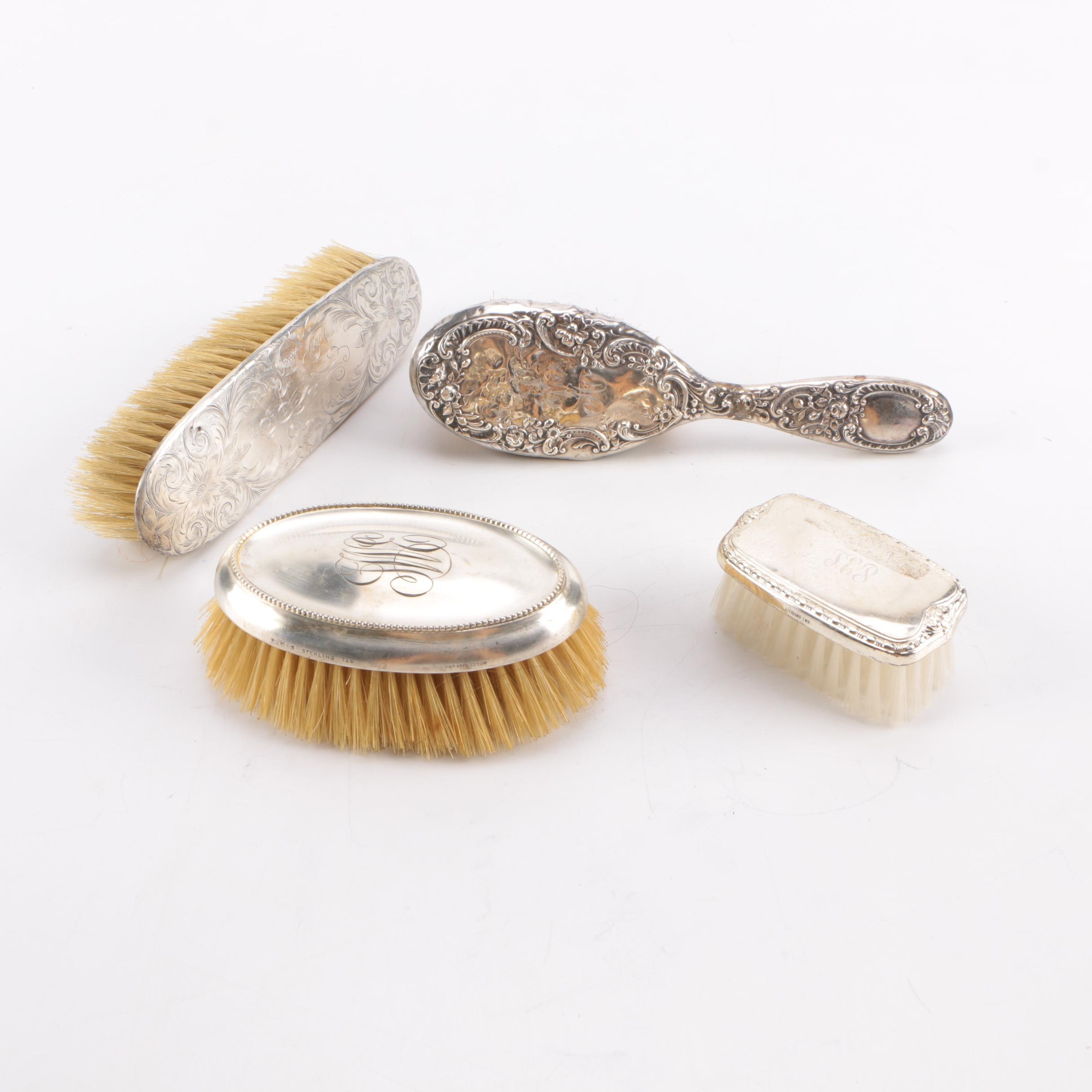 Gorham and Other Sterling Silver Backed Vanity Brushes