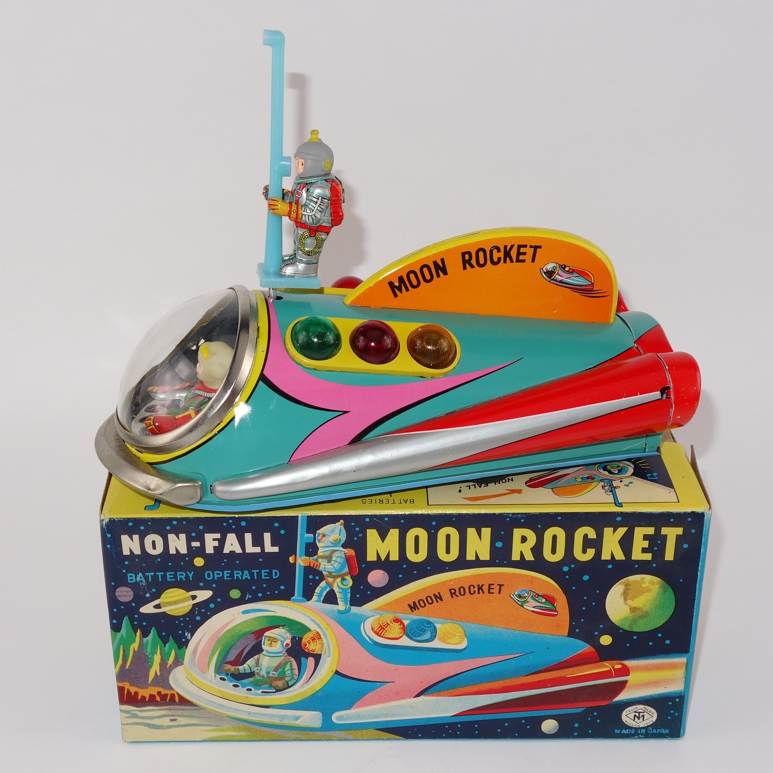 """Vintage """"Moon Roket"""" Toy by Trade Mark Toys"""