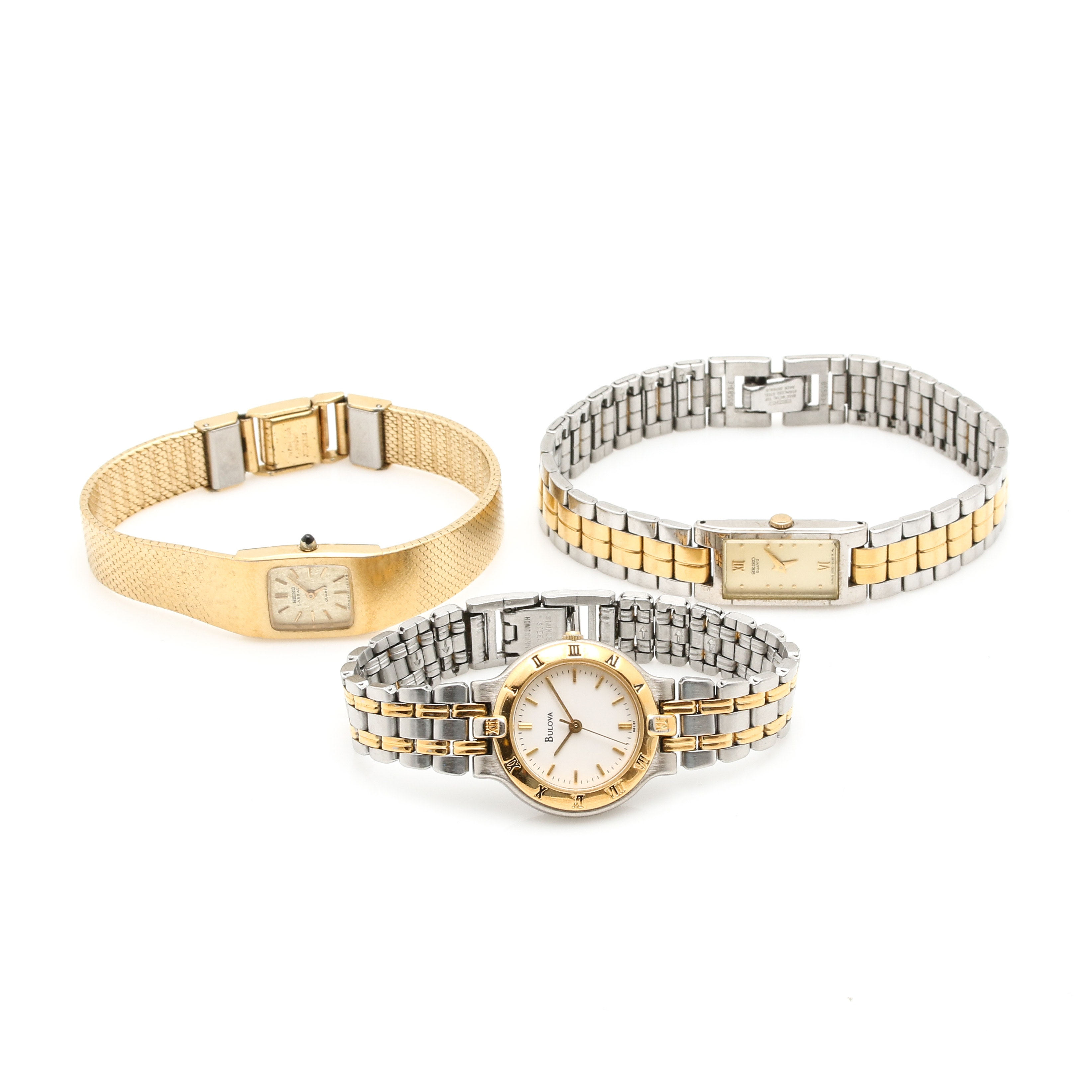 Silver and Gold Tone Analog Wristwatches