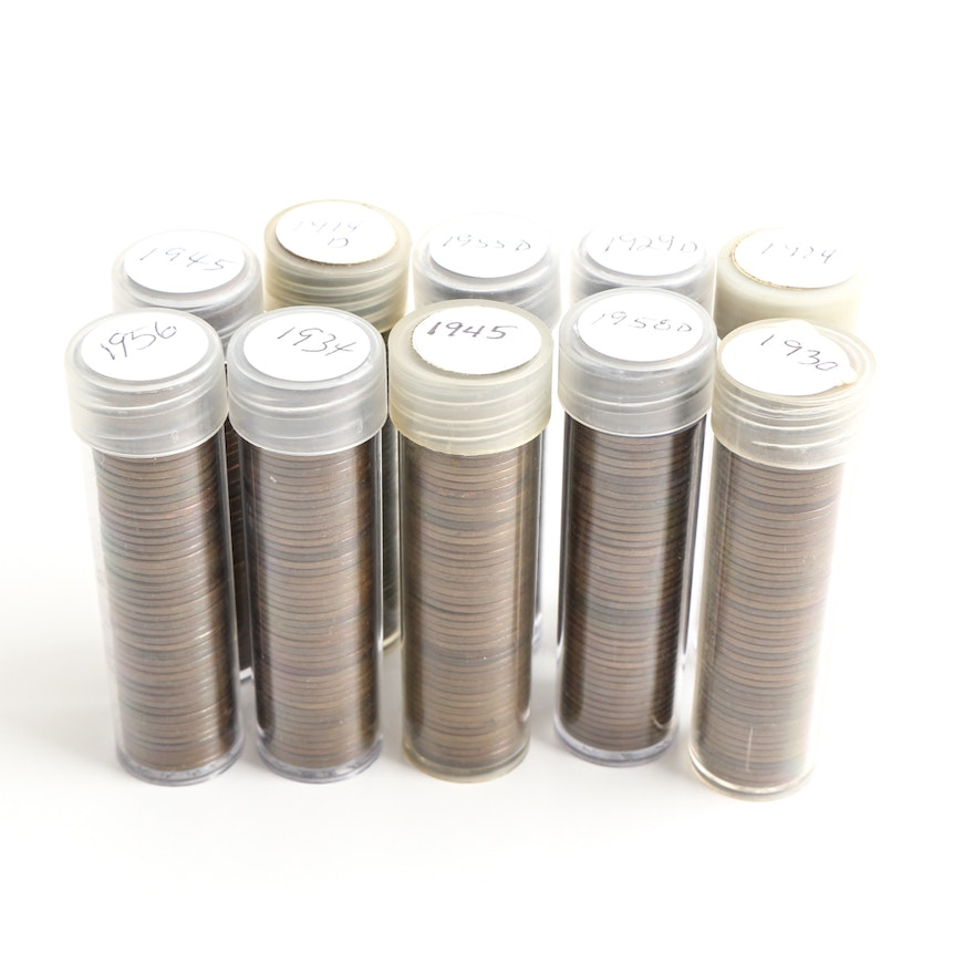 Select Assortment of Lincoln Wheat Cents