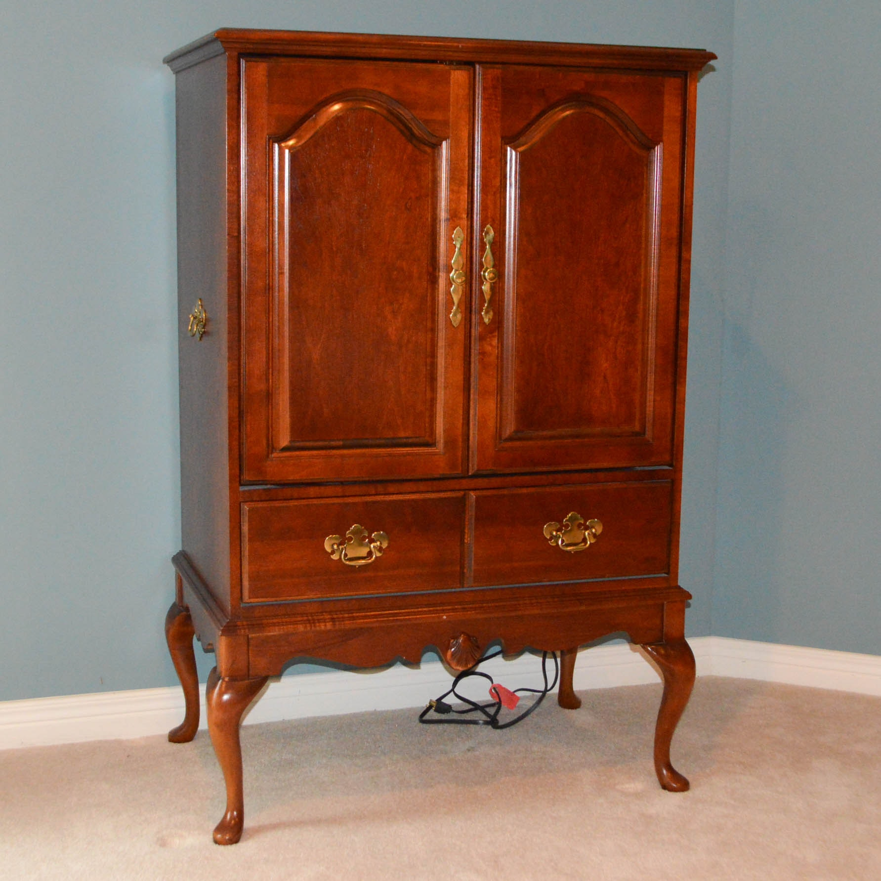 Queen Anne Style Entertainment Armoire ...