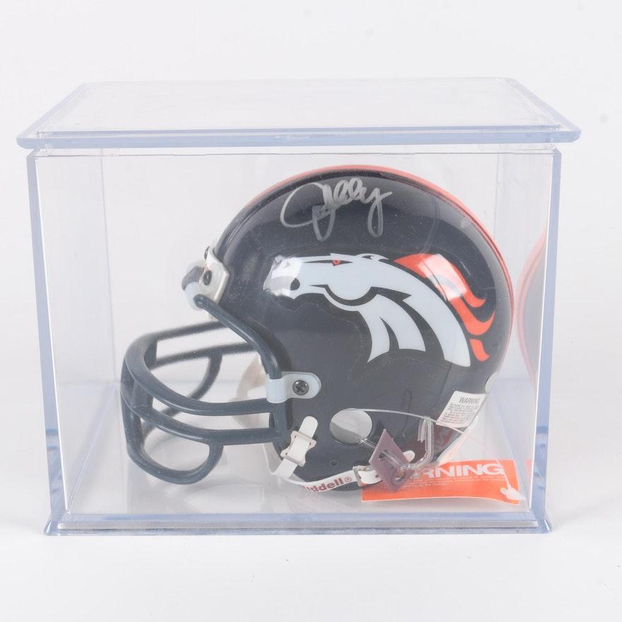 a66557df7 Signed John Elway Broncos Replica Helmet   EBTH