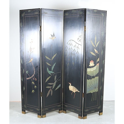Chinese Four Panel Room Divider