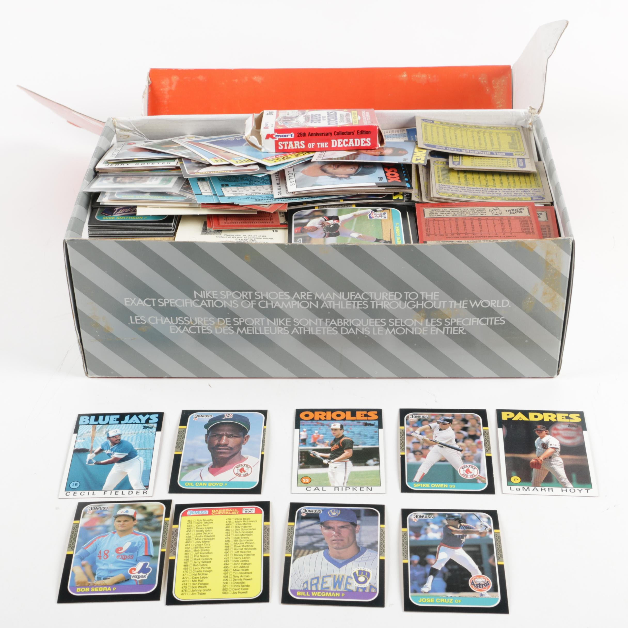 Collection Of Baseball Cards Including Cal Ripken Rookie