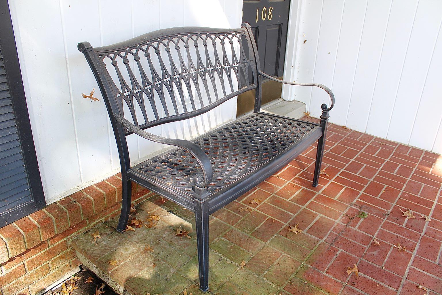 Cast Aluminum Garden Bench ...