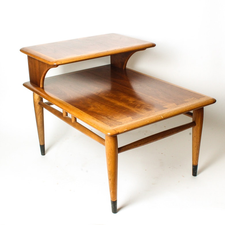 Mid Century Modern Step Back Side Table By Lane Furniture ...