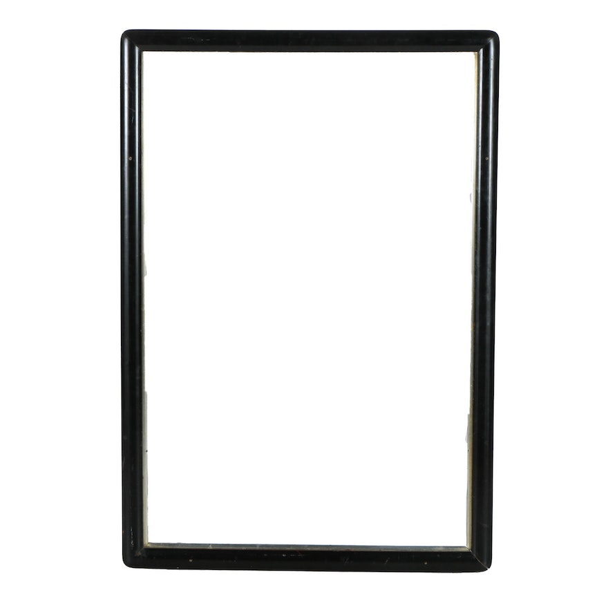 Contemporary Black Wooden Picture Frame With Lemon Gilt Liner Ebth