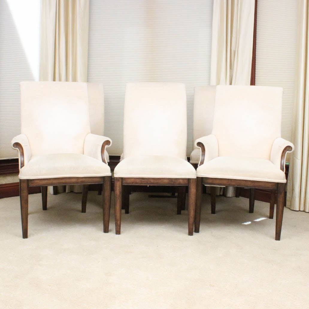 Six Upholstered Dining Chairs by Thomasville