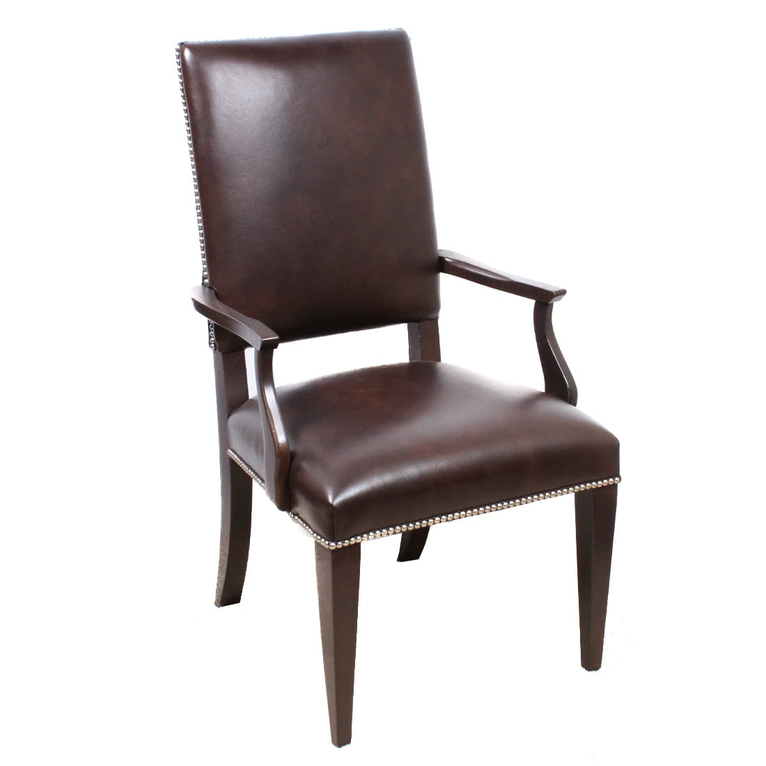 Leather Accent Chair by Ethan Allen