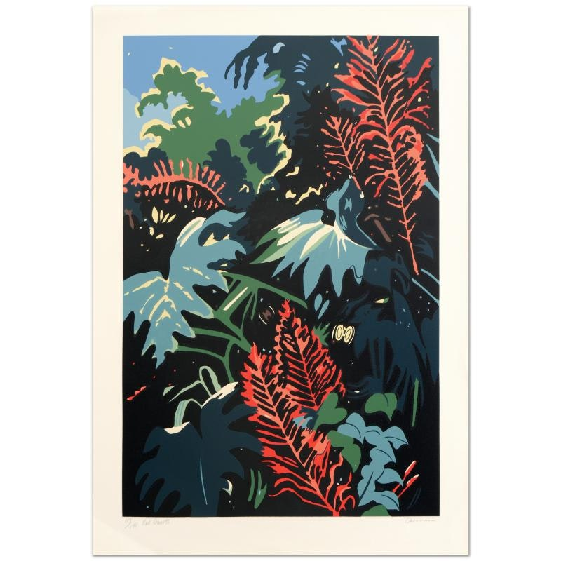 """""""Red Bursts"""" Limited Edition Serigraph by Jon Carsman"""