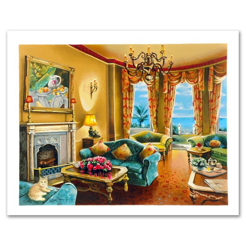 """""""Sunny Day in Florida"""" Limited Edition Serigraph by Anatoly Metlan"""