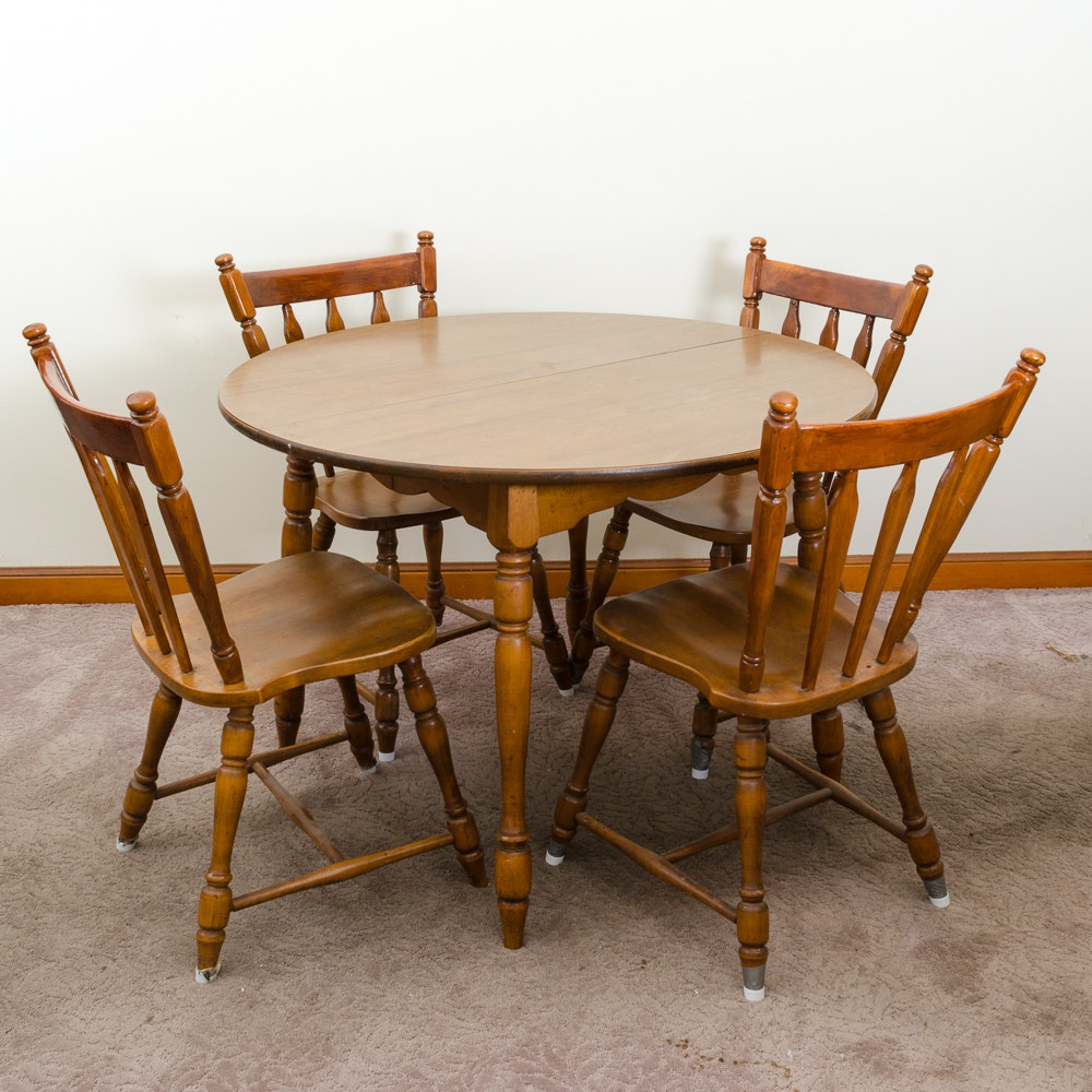 Maple Kitchen Table With Chair And Bench Ebth: Vintage Hale Company Maple Table And Chairs : EBTH