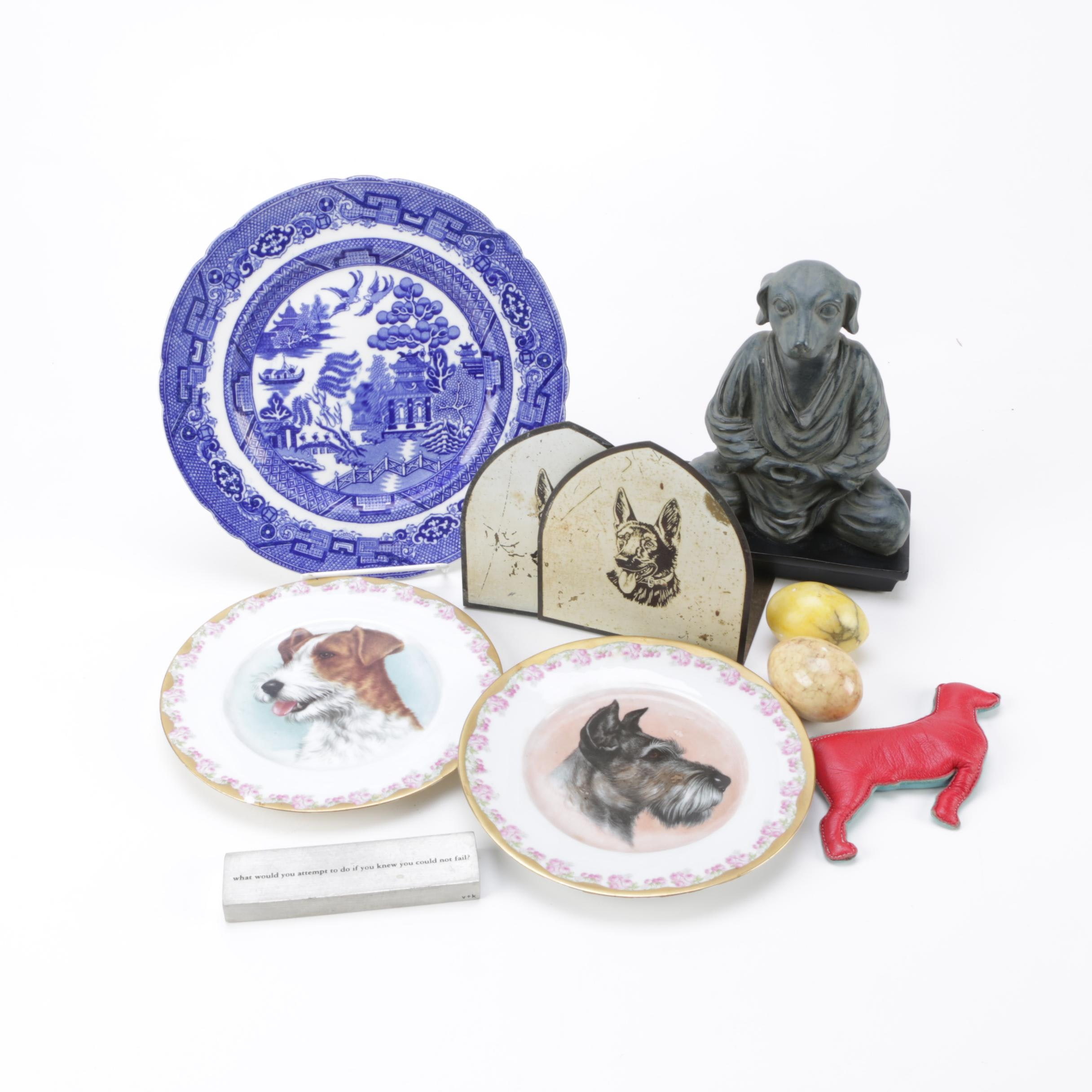 Dog-Themed Decorative Pieces with Additional Décor