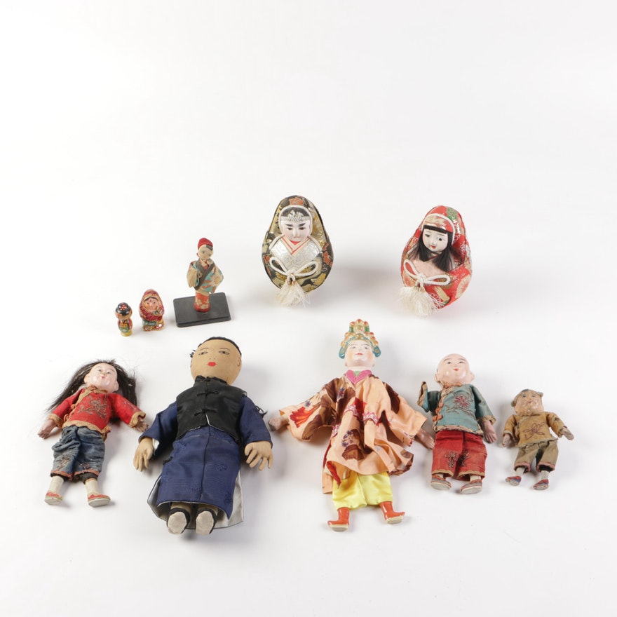 28397a8ce1a97d Antique Chinese Dime Store Dolls and Vintage Asian Decor   EBTH