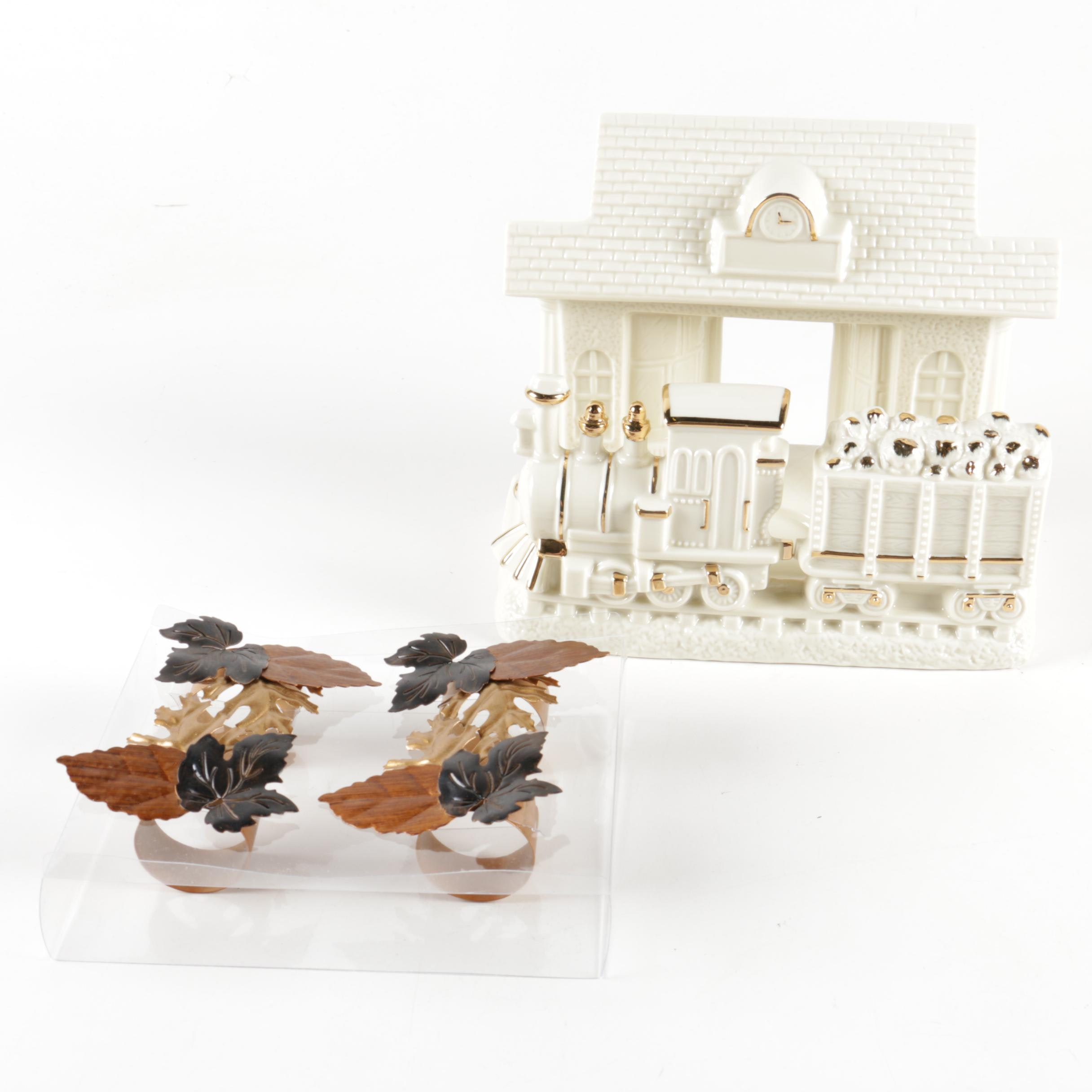Assorted Decor Including Lenox