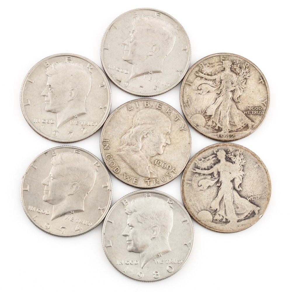 Selection of American Half-Dollars
