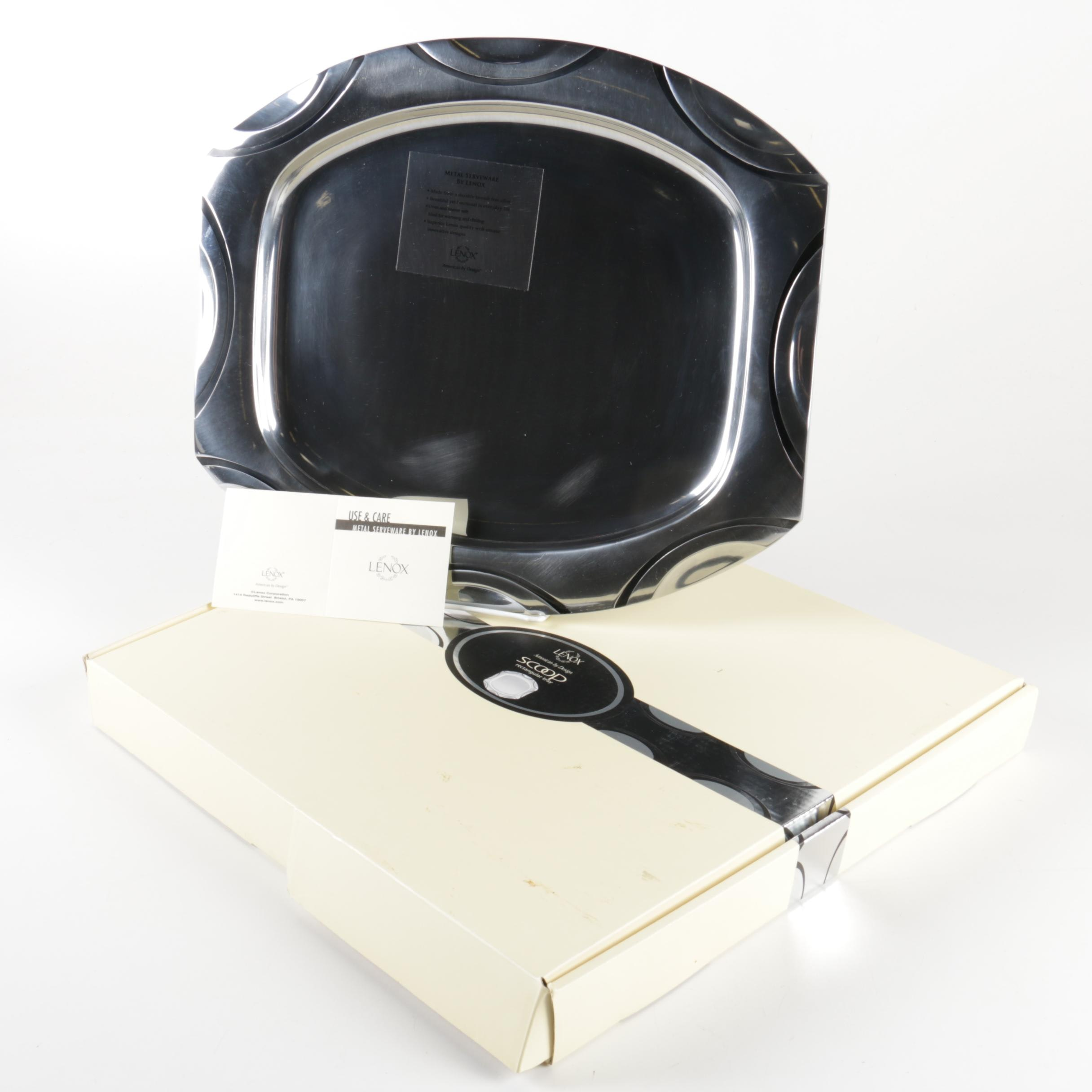 "Lenox ""Scoop"" Metal Serveware Serving Tray"