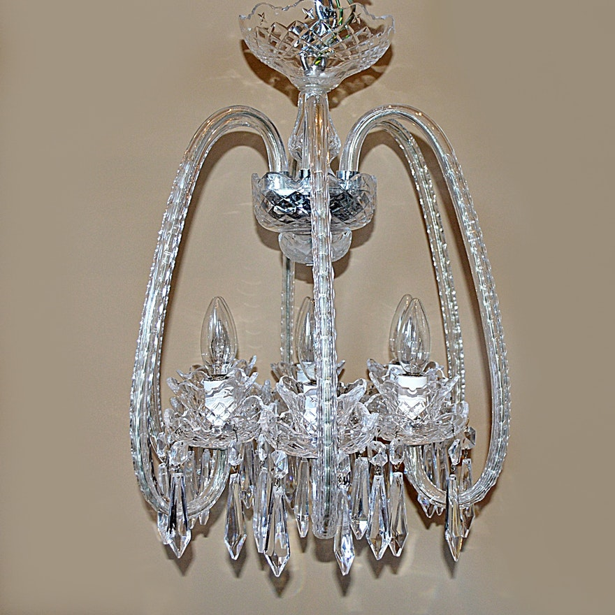 Waterford crystal fleur de lis six arm chandelier ebth waterford crystal fleur de lis six arm chandelier aloadofball Images