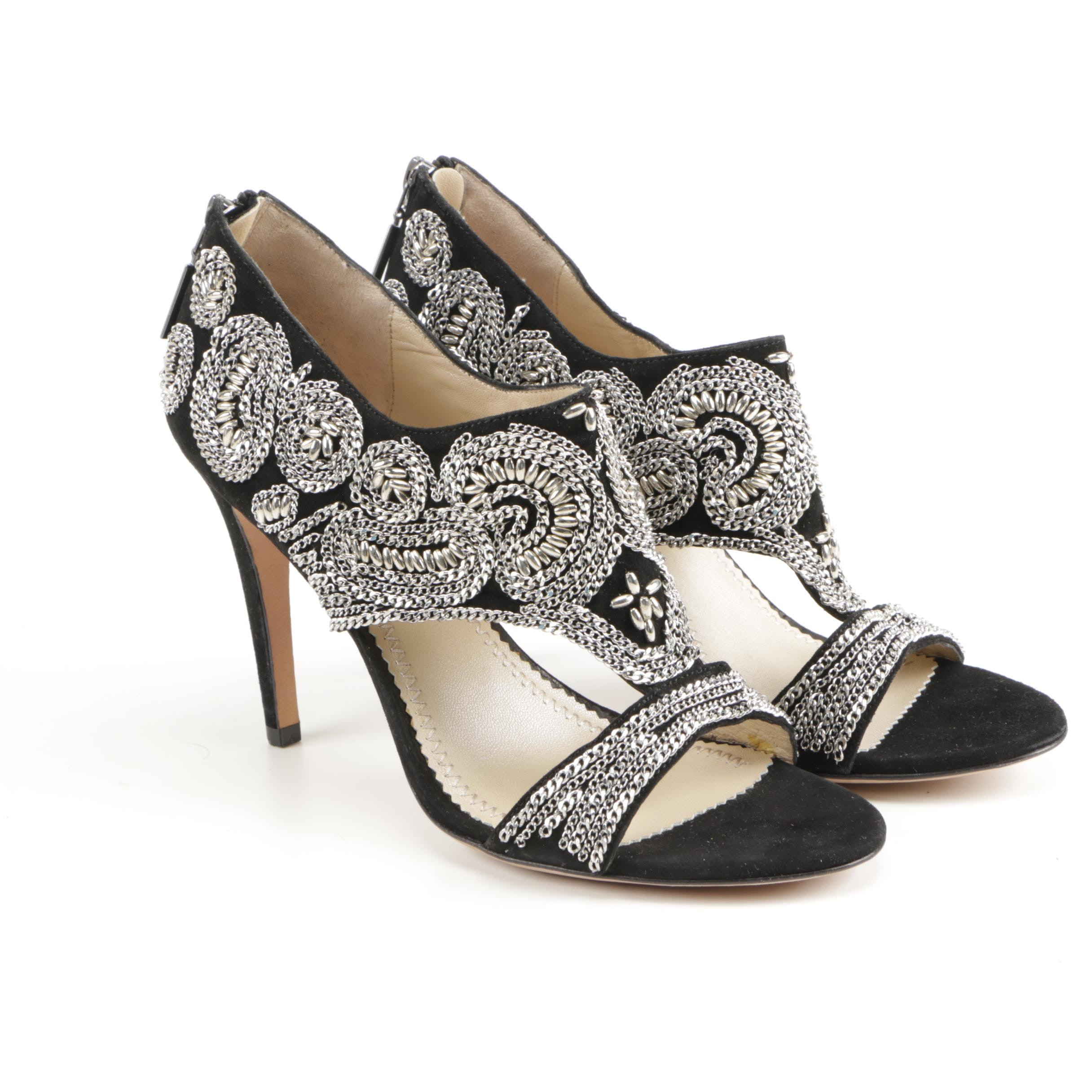 Jean-Michel Cazabat Embellished Suede Pumps