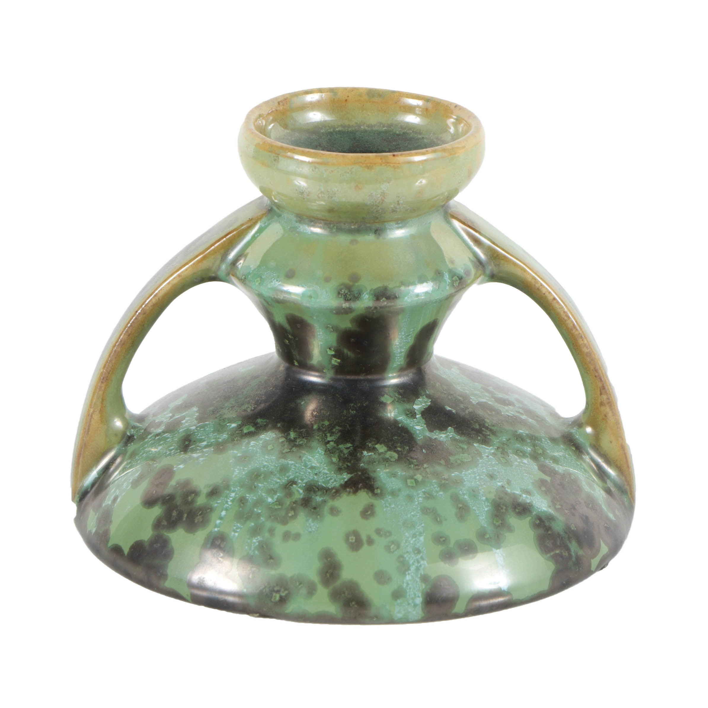 Fulper Double-Handled Ceramic Candle Holder