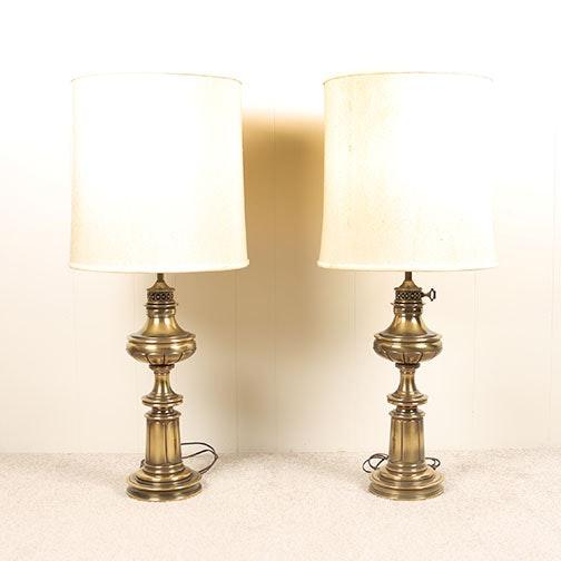 Pair of Vintage Brass Stiffel Lamps