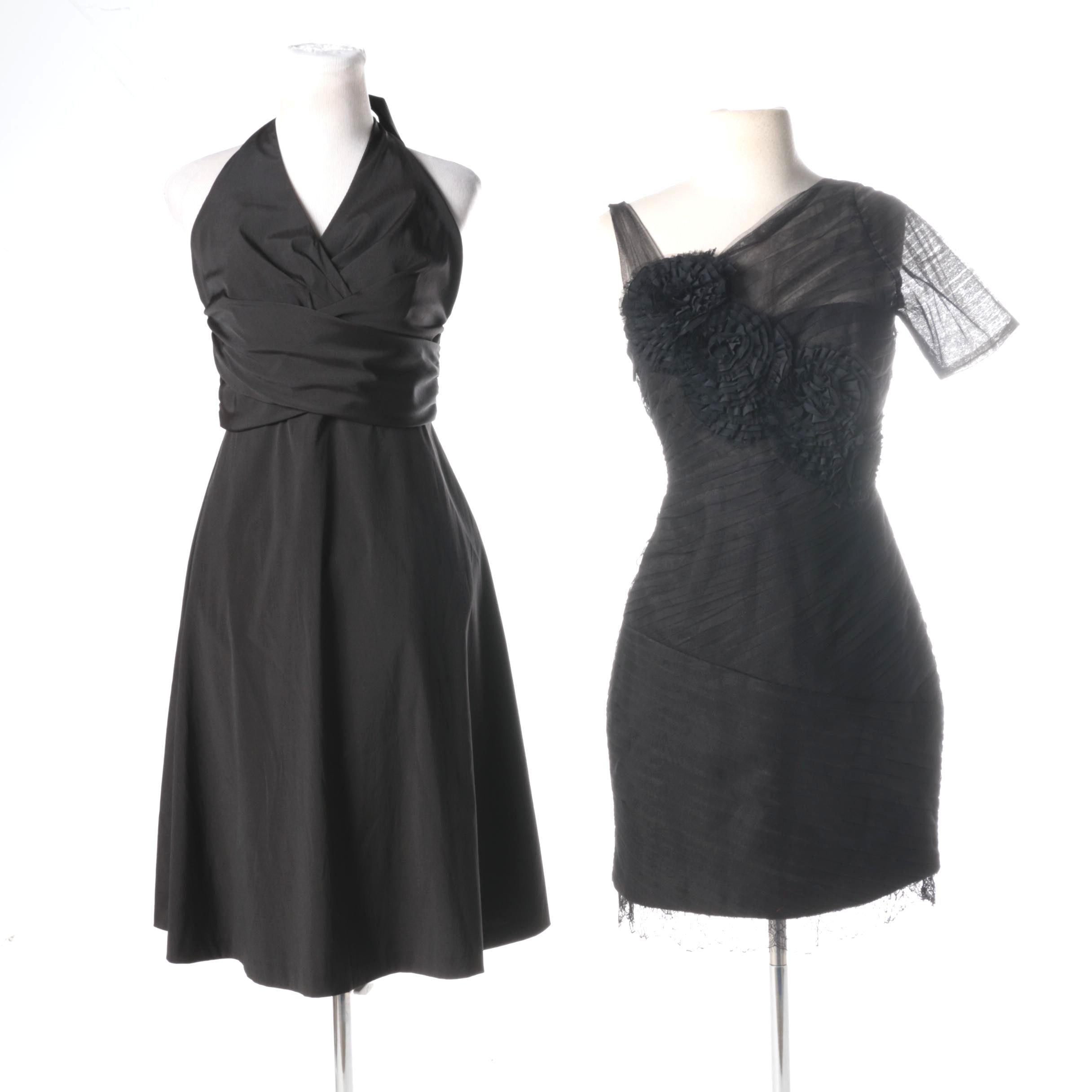 Black and white market cocktail dresses