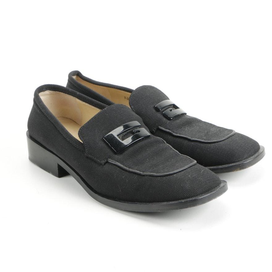 221c8f59b6e Gucci Women s Black Canvas Loafers   EBTH