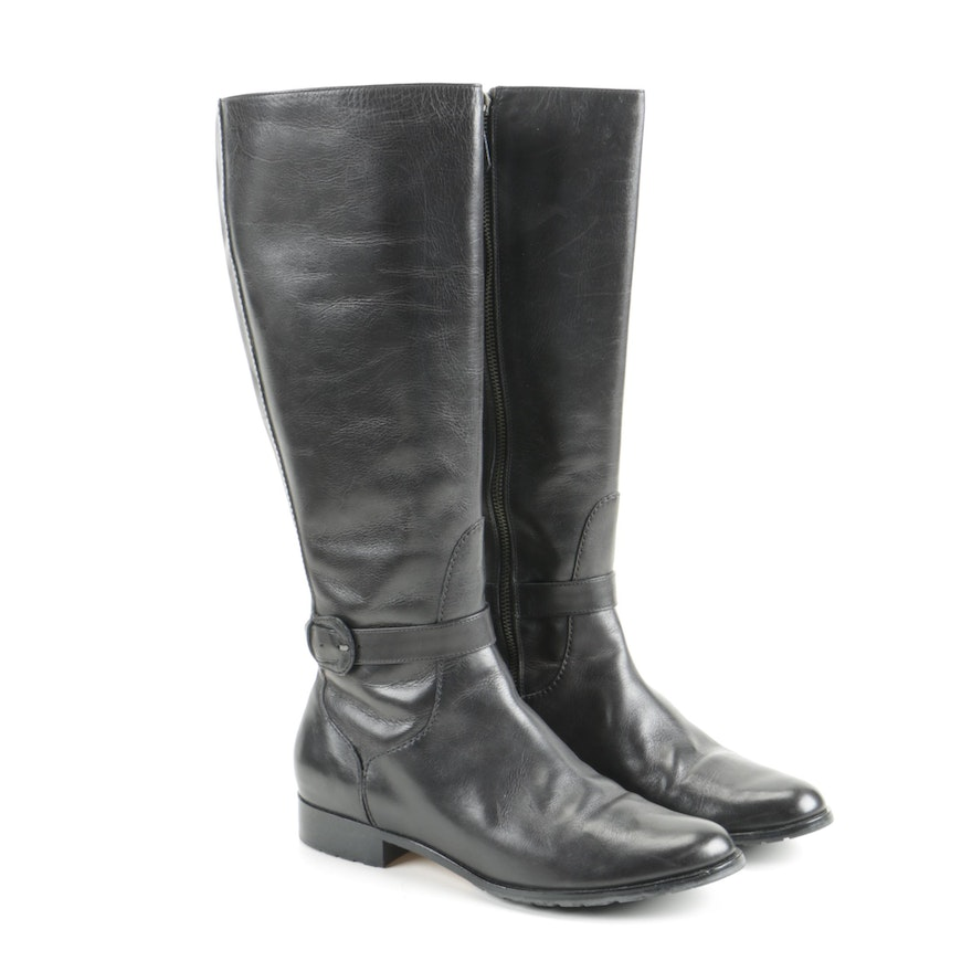Cole Haan Embossed Leather Mid-Calf Boots latest collections cheap price clearance popular free shipping prices extremely online footlocker finishline cheap online HZHOTo