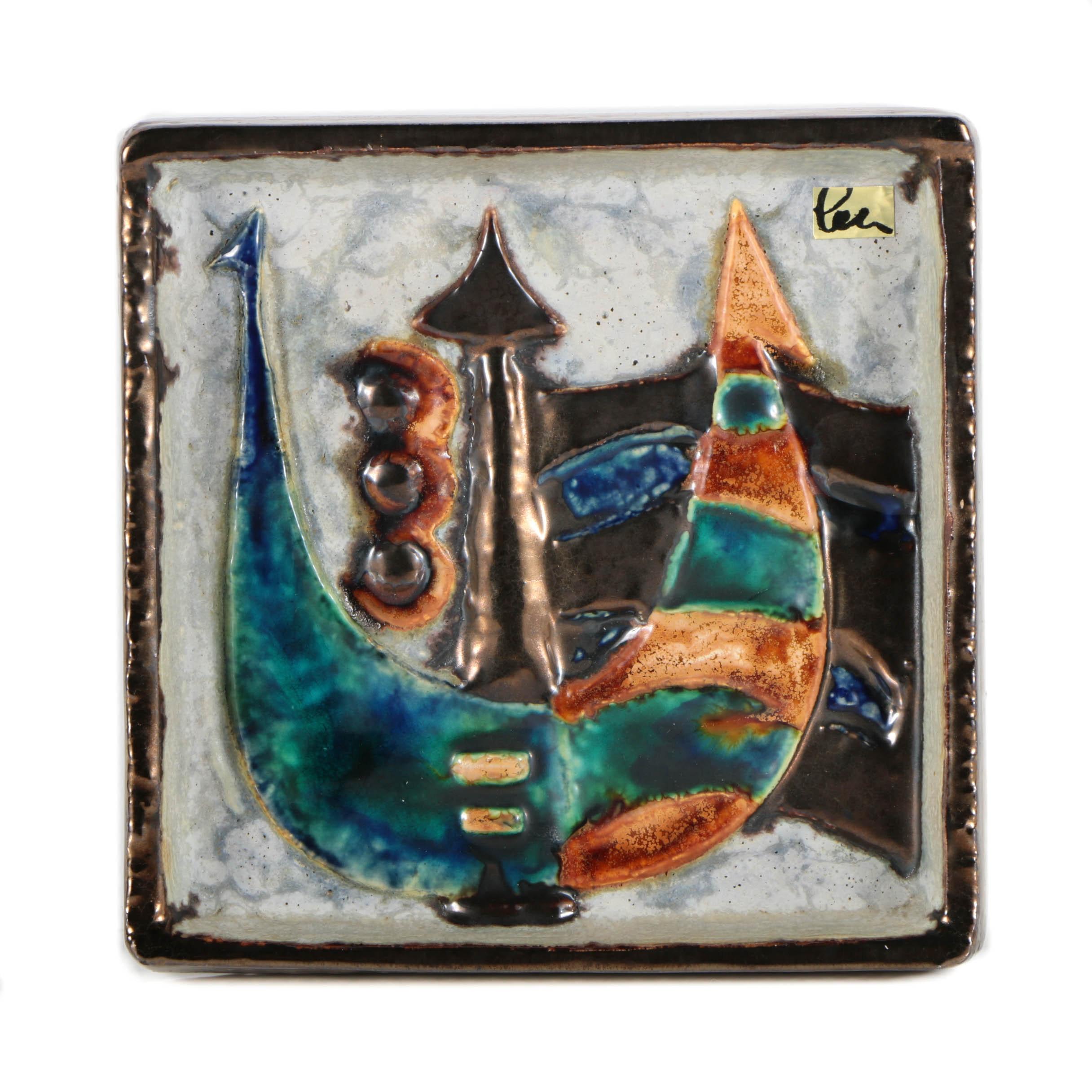 "Helmut Schäffenacker Ceramic Wall Plaque ""Ship"""