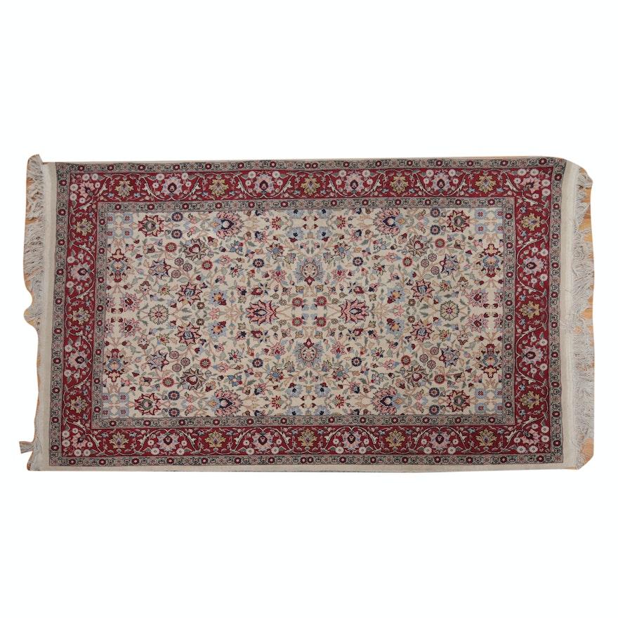 Hand Knotted Turkish Hereke Wool And Silk Area Rug